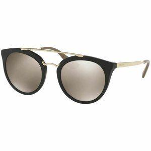 Prada Round Style Sunglasses W/Brown Gold …